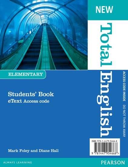 Изображение New Total English Elem Student's eText access code printed card