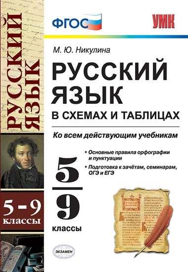 Изображение Русский язык в схемах и таблицах. 5-9 классы. ФГОС